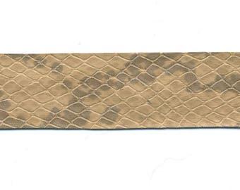 fancy leatherette beige snake - Lot 21 Ribbon 1.90 m