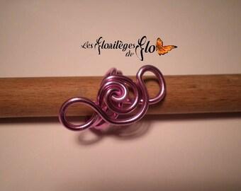 01083 - Rose ring made of aluminum 1.9 cm in diameter