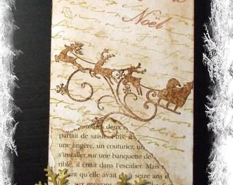 Tag vintage Merry Christmas