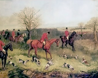 COLLECTBILE Set Of Fox Hunt Prints, SET of ALL 4