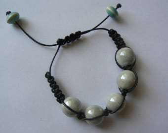 cloud grey Shamballa bracelet