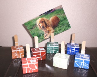 Picture holder for the patchwork cube