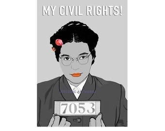 Rosa Parks, Civil Rights Movement, Female icon,