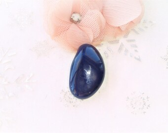 Pearl stone ultramarine blue azurite polished 38 mm