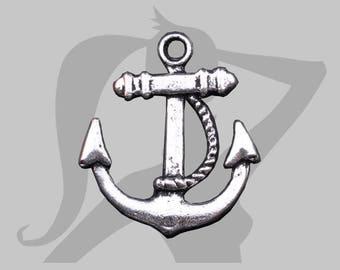 Silver anchor charm
