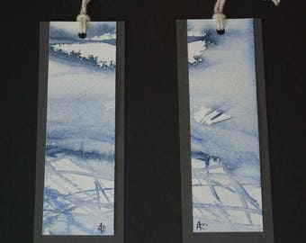 """Illustrated tags - signed original artwork - """"Abstraction"""""""