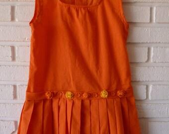 Fresh orange dress for girl
