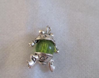 teapot charm pendant with Pearl
