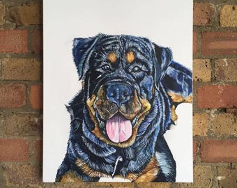 A2 Pet Portrait canvas painting