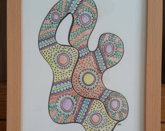 Squiggle - Signed Limited Edition Fine Art A4 Giclee Print on Bamboo Paper
