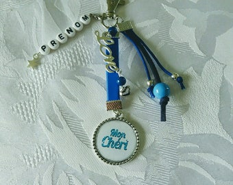 Baby Blue personalized Keyring