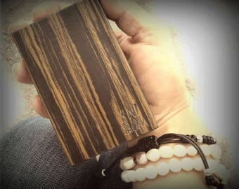 Wood cigarette case