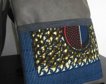 Gray faux leather shoulder bag