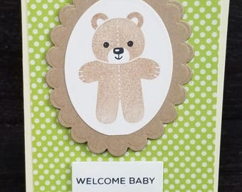 Welcome baby, Baby shower card, Gender neutral, baby girl, baby boy, custome baby card