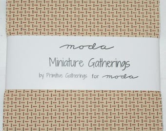 "Patchwork charm pack by moda - ""Miniature Gatherings""."