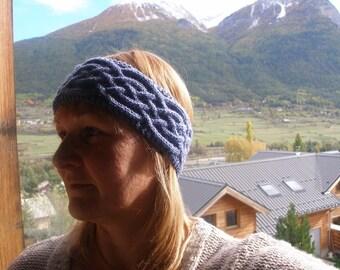 Blue twisted headband