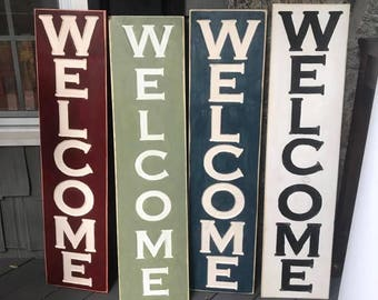 Wood welcome sign, Wooden welcome sign, Rustic welcome sign, Carved wood sign, Porch welcome sign, Welcome porch sign, Large welcome sign
