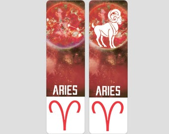 Aries Zodiac Sign Indestructible waterproof bookmark