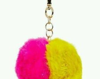 Faux Fur Charm For Handbags Purse Clutch Cross bags