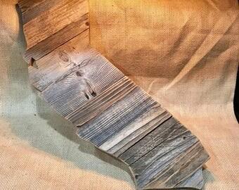 California made of reclaimed barn wood
