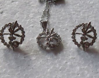 Earrings with pendant fairy
