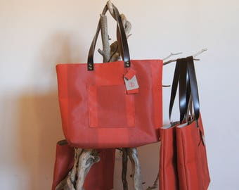 "Style shopper bag tote bag, recycled, ""Lounger"" textile collection"