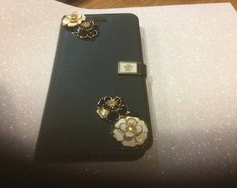 Blinged out Handmade IPhone 6 flip open case