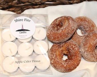 Apple Cider Donut 100% Soy Tea Lights Pack of 12
