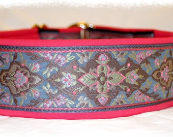 "Dog collar Jacquard ribbon in unique colourful ""Pastel"" style Pet Jewellery"