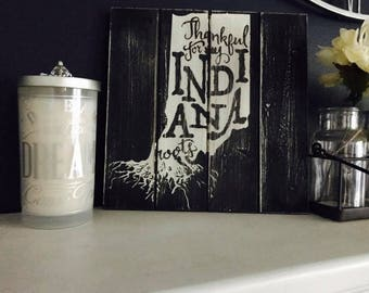 Decal, Indiana, Signs, Farmhouse, Vintage, Shirts