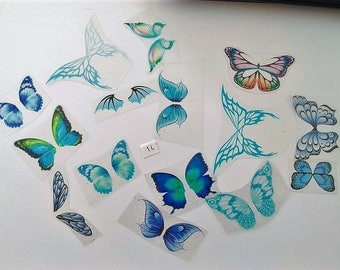 Set of 15 wings Mix NON cutting Lot No. 14