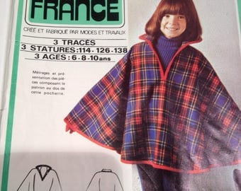 pattern easy poncho from kid's winter