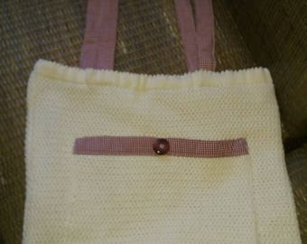 upcycled ecru cotton tote bag