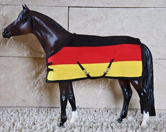 Blanket rug for Breyer Model Horse Peter stone  Modelpferde German flag Deutschland traditional sized 1:9 scale