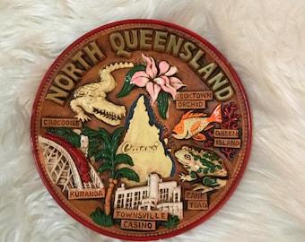 3D Sculpture Decorative Ornamental Plate North Queensland