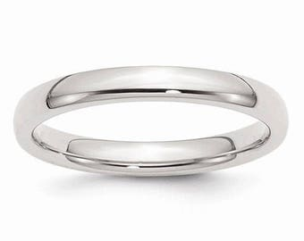 Sterling Silver .925 3mm Comfort Fit Men's and Women's Wedding Band Ring Thumb/ Knuckle/ Toe Rings Sizes 4-14 High Polished U.S made.