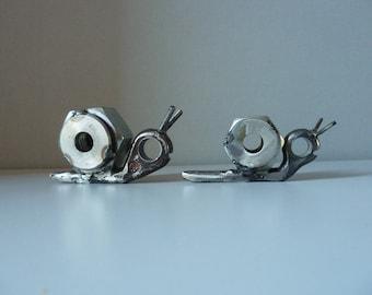 """Sculpture en fer """"La famille escargot"""""""