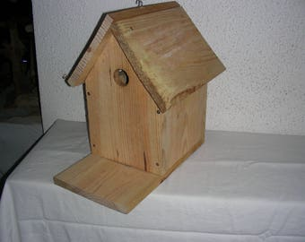 beautiful birdhouse made of solid wood recycled for garden birds