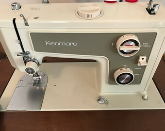 Vintage Sears Kenmore Sewing Machine Perfect Condition