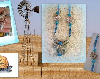 NECKLACE paper beads * a little bit COUNTRY *.