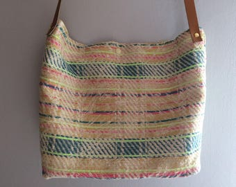 Colorful, original fabric shoulder bag