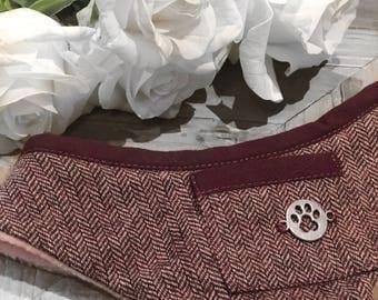 Luxury Plum Tweed Dog Harness