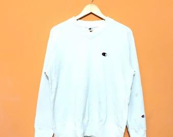CHAMPION Small Logo sweatshirts  pullover jumper  Activewear Sportwear Medium size