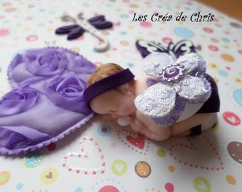 baby girl fabric Butterfly fimo.