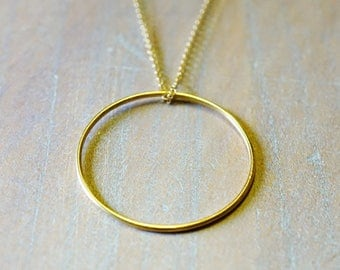 """Circle"" Goldfilled 14 k gold necklace"
