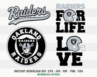 Oakland Raiders SVG, Cut Files, Digital Cutting File, Football Decal, Raiders Logo, Layered Vector, dxf eps png jpg pdf, Winners_04