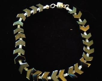 Hemalyke and Glass Bracelet