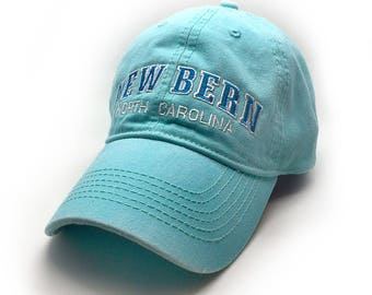 New Bern Embroidered Hat, Chalky Mint