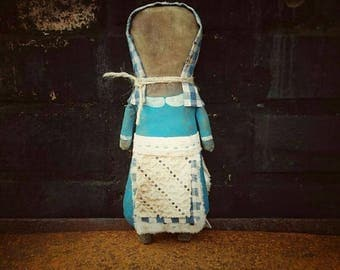 Primitive Doll E Pattern Folk Art Prairie Dolls - JPG File. Making a simple rag doll