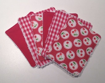 """Cherry"" Washcloths to take care of yourself in softness while respecting the planet"